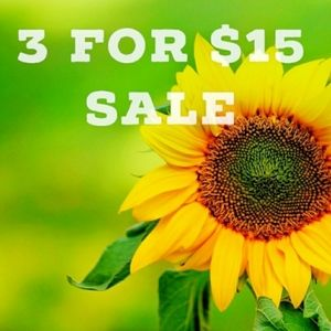 3 for $15